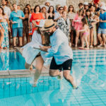 Matrimonio in piscina a le Axidie, nella splendida costiera sorrentina